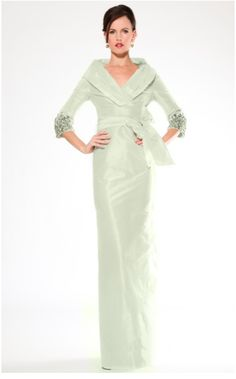 Teri Jon evening gown   Style #17228C # #Green Mother of the bride style