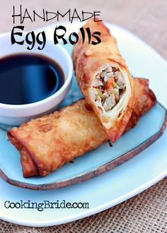 Handmade Egg Rolls - CookingBride.com so so yummy I only used half a pound of pork and double the cabbage