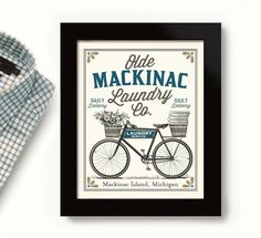 Mackinac Island Michigan Art Laundry Sign Old Bicycle Laundry Room Decor Vintage Bicycle Art Linens and Sheets Washing Machine Whats Not To Love Cheer up Vintage Bicycle Art, Old Bicycle, City Bathrooms, Laundry Room Signs, Laundry Decor, Mackinac Island Michigan, Bathroom Artwork, Bicycle Decor, New Orleans Art