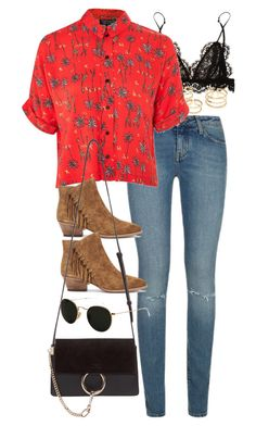 Untitled #10604 by nikka-phillips on Polyvore featuring polyvore, moda, style, Topshop, Yves Saint Laurent, Isabel Marant, Lenny, Chloé, Ray-Ban, fashion and clothing