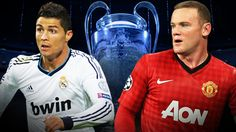 Cristiano Ronaldo and Wayne Rooney - Manchester United draw Real Madrid in the last 16 of the Champions League, while Celtic get Juventus and Arsenal play Bayern Munich via bbc new Football Man Utd, Bbc Football, World Football, Real Madrid Soccer, Soccer Cards, Wayne Rooney, Burnley, European Football, North London
