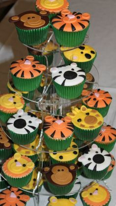 Jungle cup cake - Jungle Book Theme Party