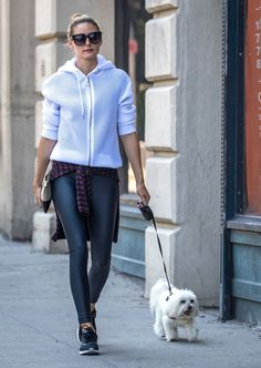 The Olivia Palermo Lookbook : Olivia Palermo Walking Her Dog in Brooklyn - July…