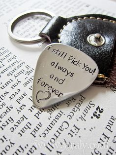 Hand Stamped Personalized Guitar Pick  Custom Stamped by Jeraly, $32.00