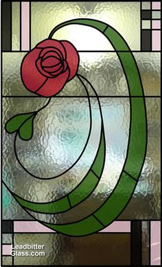 Mackintosh style leaded glass door design