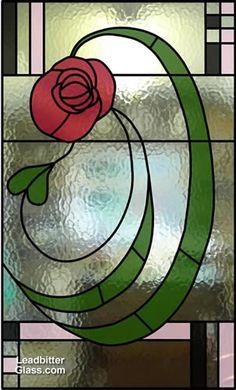 Mackintosh style leaded glass door design