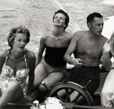 Giovanni Agnelli and Marella Agnelli in Capri