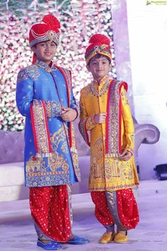 Baby boy Kids Indian Wear, Kids Ethnic Wear, Indian Groom Wear, Baby Boy Dress, Baby Boy Outfits, Kids Outfits, Baby Dresses, Kids Kurta, Kurta Designs