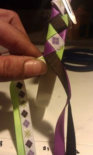 Woven Ribbon Headband Tutorial DIY