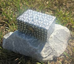 Skull and Bones Ring Box in Black and white by TrulyUniqueBouquets, $15.00