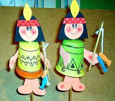 Índios feitos com copos descartáveis | Pra Gente Miúda