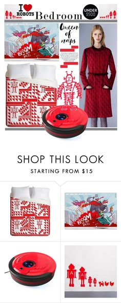"""""""Robot Bedroom"""" by yours-styling-best-friend ❤ liked on Polyvore featuring interior, interiors, interior design, home, home decor, interior decorating, DENY Designs, Mary Katrantzou and bedroom"""