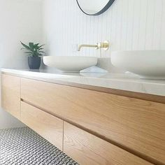 🤤🤤🤤 | Timber vanity envy, beautiful image from @_hello.sunday | #vanity #timbervanity #timber #beautiful