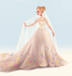 A repost of Ella's wedding dress! @lilyjamesofficial is basically fairy tale perfection lol