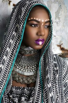 Tribal inspired make up