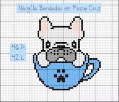 Perler Beads, Perler Bead Art, Cross Stitch Charts, Cross Stitch Patterns, Dog Crafts, Lego Projects, I Love Dogs, Cross Stitching, Baby Quilts