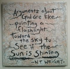 NT Wright quote on 6x6 ceramic tile with wall by ScribbleSketches, $12.00