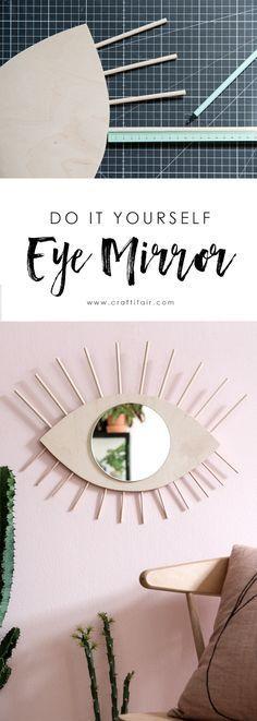 DIY eye mirror
