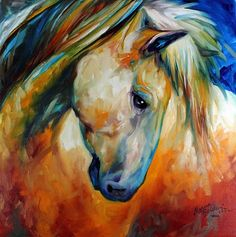 Abstract Horse Paintings   Horse Art Gallery: ABSTRACT EQUINE ECCENSE by MARCIA BALDWIN