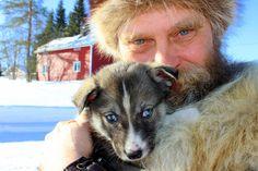 Susi with husky pup in Ruka, KUUSAMO, Finland 11069373_924611170912410_8933613681713346727_o.jpg (2048×1365)