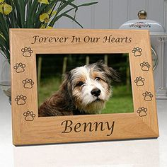 Forever Loved Crazy Price Dog Memorial Picture Wooden Frame Always Remembered