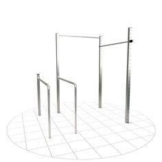 Outdoor training station with two poles and two dip bars. for freeletics and calisthenics exercises with your own body weight Bar Workout, Street Workout, Gym Workouts, Workout Ideas, Outdoor Pull Up Bar, Outdoor Gym, Crossfit, Calisthenics Equipment, Outdoor Training