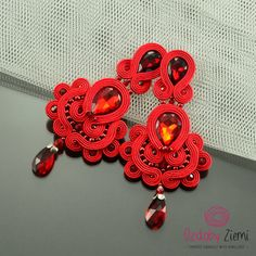 Hey, I found this really awesome Etsy listing at https://www.etsy.com/uk/listing/291421093/clip-on-long-red-soutache-earrings-long
