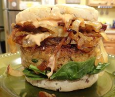 This burger is vegan and gluten-free and it's the most delicious of all the burgers I've ever made. It's made from eggplant. That's right, no beans, no tofu, no TVP. The flavor of this burger is so…
