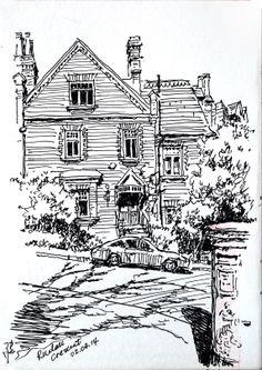 10 x 14.5cm,coloured gel ink pen, Hampstead