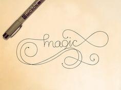 Hand Lettering by Shivani Singh, via Behance
