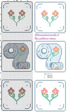 Resultado de imagen para punto croce monocolore bagno