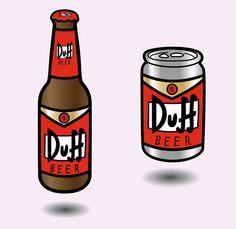 Duff Beer, The Simpsons