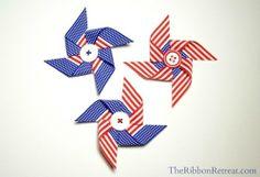 Pinwheel ribbon sculpture