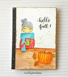 Happy Fall y'all 🍂🍁🍃 Are you ready for fall? I'm not 🙄😆 This is a selfie card for the Fall Coffee Lovers Blog Hop 😜😄😅 #fall2016clh . . #diy #cardmaking #kartengestaltung #carterie #painting #peindre #malen #watercolor #aquarelle #vangoghwatercolor #happyfall #autumn #colouring #handmadecard #handlettering #tombowfudenosuke #tombowusa #illustration #artsy #papercrafts #kartenbasteln #bricolage #craftybasteln
