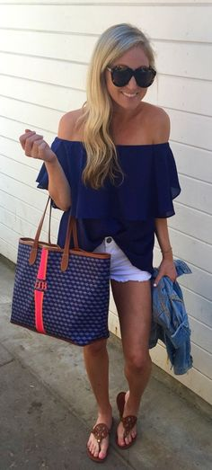 #Summer #Outfits Easy Breezy OTS Top + Shorts!