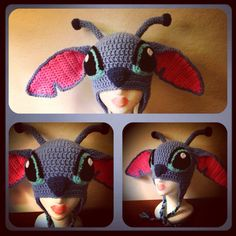 Disney Stitch styled Crochet Hat  By http://www.etsy.com/shop/HarvesterProducts?ga_search_query=stitch