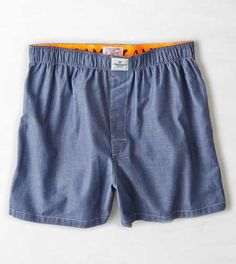 Designer Clothes, Shoes & Bags for Women Trunks Underwear, Guys Underwear, American Eagle Men, How To Make Shorts, Sport Shorts, Mens Outfitters, Chambray, American Eagle Outfitters, Man Shop