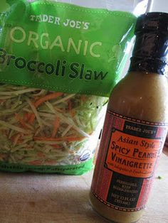 Asian Chicken Slaw - part of her Takeout Tuesday series.  Semi-homemade food, with little to no prep time required.