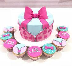 Lol cake Funny Birthday Cakes, 6th Birthday Parties, Surprise Cake, Surprise Birthday, Lol Doll Cake, Cake Blog, Lol Dolls, Girl Cakes, Cakes And More