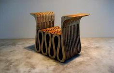 Argentina-born, Miami-based designer Facundo Poj creates furniture & fine objects from both eco-friendly materials & found objects. His use of sustainable plyboo - layered bamboo, non-toxic glues & oak dowels (no nails or screws) makes his furniture strong, functional, earth-friendly works of art. The designer's background in architecture and environmental studies inhabits the lines & spirit of his work. This piece is constructed from 44 layers of engineered plyboo with a water-based fini...