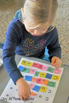 Letter tile names for name recognition in preschool