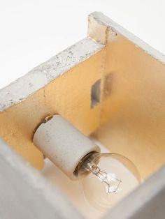 Muro de hormigón B3 iluminación indirecta oro por GANTlights