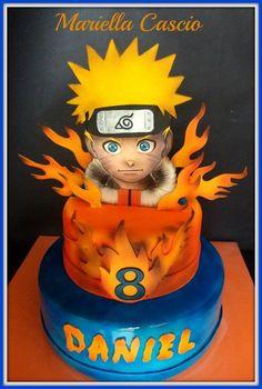 naruto cake - cake by Mariella Cascio Naruto Birthday, Ninja Birthday Parties, Baby Boy 1st Birthday, 9th Birthday, Birthday Celebration, 3d Cakes, Fondant Cakes, Cupcake Cakes, Bolo Do Naruto