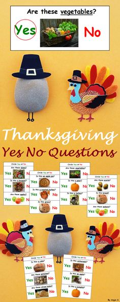 Thanksgiving and Fall Yes No Questions Autism Worksheets for Speech Therapy, a great activity to target basic yes no questions, good for students with autism and special needs. Asking and answering questions are very important for teaching preschool and kindergarten students. For more special ed resources follow https://www.pinterest.com/angelajuvic/autism-special-education-resources-angie-s-tpt-sto/