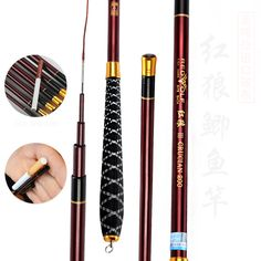 2pcs/lot special offer fishing rod  soft red crucian carp and Crucian Carp Rod rod ultralight super thin section rod