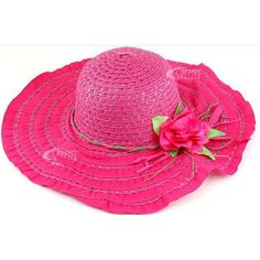 15pcs Free Shipping 9colors Wholesale women Girl Straw hat Beach... ❤ liked on Polyvore