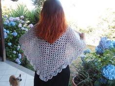 CROCHET SHAWL or PONCHO tutorial crochet patterns beginners - YouTube