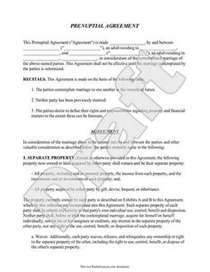 Free Legal Separation Agreement Form Nc Nc Office Of The State