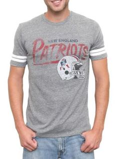 NEW NFL Collection online now!  New England Patriots Classic Football tee  $42  www.junkfoodclothing.com