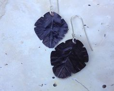 I never learn  earrings with black copper. Fall by MONOtekst, $33.00